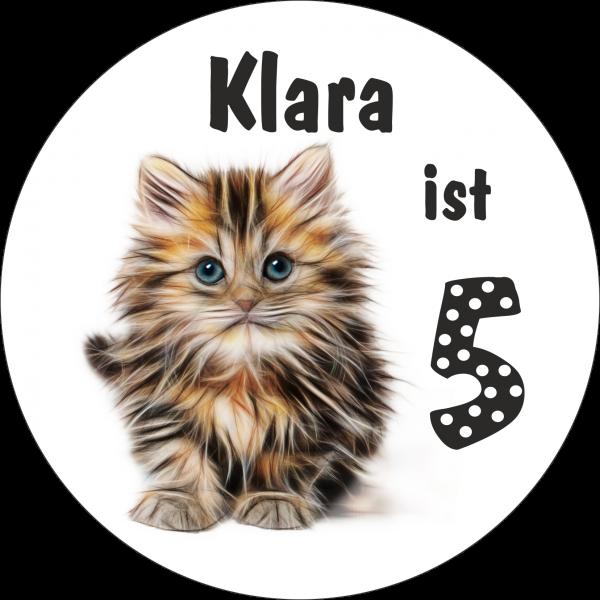 Tortenaufleger Katze mit Namen und Alter